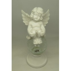 N°2  ANGE ASSIS BOULE CRISTAL LUMINEUX  - FIGURINE