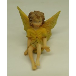 N°9 FILLETTE ASSISE AILES REGLABLE PAILLETTE  - FIGURINE FEE